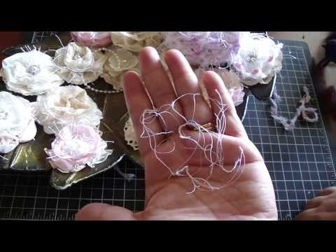 Shabby Chic Handmade Flowers/Tutorial and Crochet Lace Roll for Mother's Day