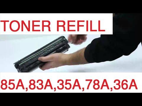 HOW TO REFILL TONER HP-85A,83A,35A,78A,36A | របៀបបញ្ចូលទឹកថ្នាំ HP-85A,83A,35A,78A,36A