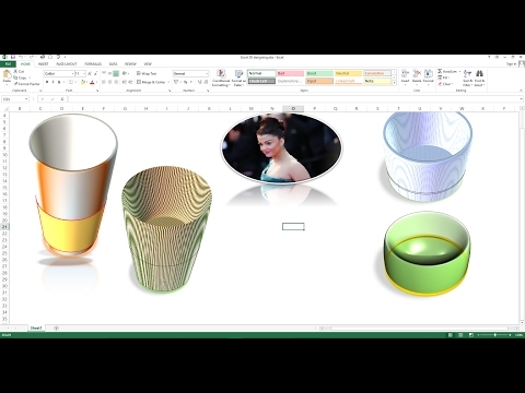 How to Create 3D Design in Excel Worksheet, How to make 3D Shapes in Excel worksheet