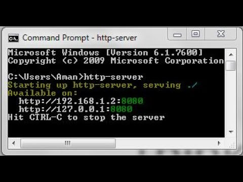 Install HTTP-Server using cmd | localhost:8080
