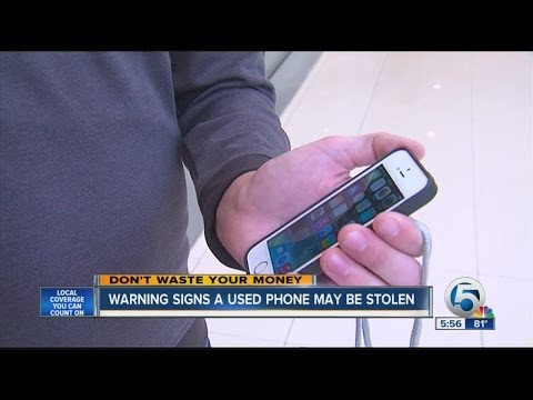 Warning signs a used phone may be stolen