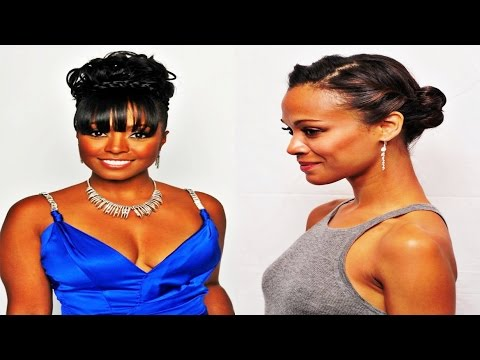 Braided Bun Hairstyles for African American Women with Bangs