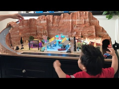 CARS 3. Dad Creates Custom Cars Radiator Springs Gift For His Son's 2nd Birthday. Time Lapse PIXAR