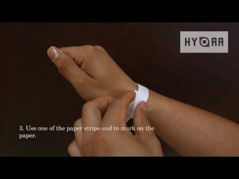 Measuring Wrist Size with Paper and Ruler - Hydra