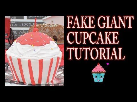 GIANT FAKE CUPCAKE TUTORIAL | CLAY CRAFT  DIY | FAUX CAKE | Cup n Cakes Gourmet