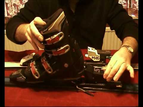 Adjusting ski bindings for different boots.wmv