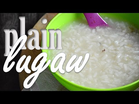 How to make PLAIN LUGAW (Filipino Rice Porridge) | It's More Fun in the Kitchen