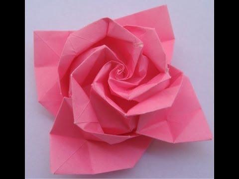 origami tutorial: Rose