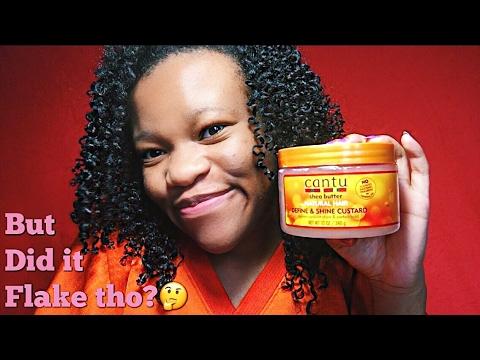 Did It Flake In My Hair? | Cantu Shea Butter For Natural Hair Define And Shine Custard