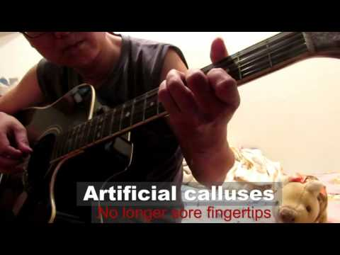 imagine (fingerstyle guitar) using the artificial calluses