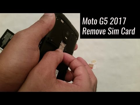 Moto G5 2017 How To Remove Sim Card & Micro SD Card