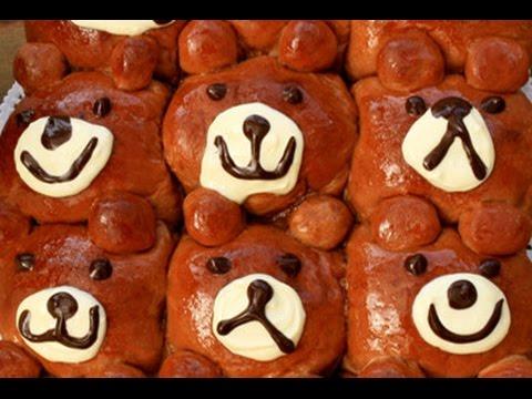 How To Make Nutella Chocolate Bread Buns   Rilakkuma Pull-Apart Recipe