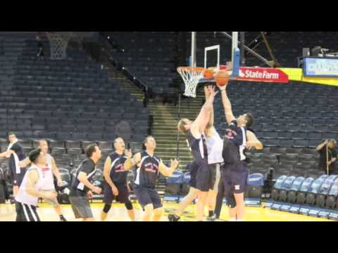 Alcofirefighters Basketball team @ Oracle Arena