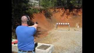 Nate Shooting Open Gun At Sneaky Plate Rack