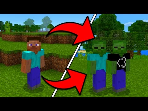 How To Become a Zombie in Minecraft Pocket Edition