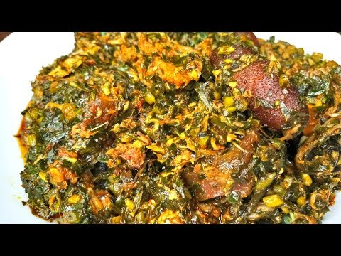 HOW TO MAKE SIMPLE NIGERIAN AFANG SOUP |AKWA IBOM STYLE