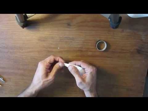 Make a smudge tool (paper stub) from toilet paper in 2 minutes