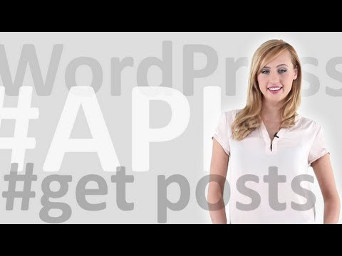 How to get posts using WordPress API
