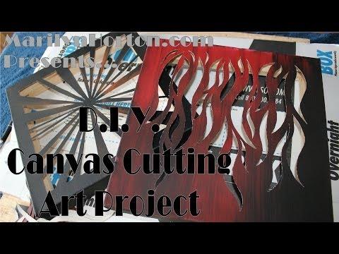DIY Canvas Cutting Art Project