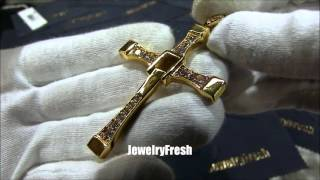 Fast and Furious Vin Diesel's Cross Gold Letty Cross by Jewelry Fresh