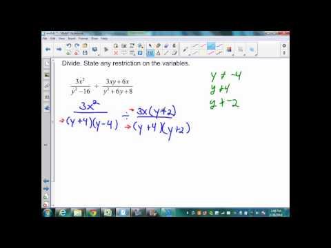 sec9 4 Part 3 Alg 2 Dividing Rational Expressions