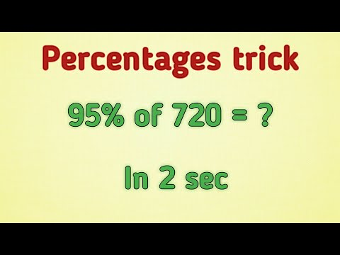Percentage Trick in Telugu- Solve percentages mentally - percentages made with the simple math trick