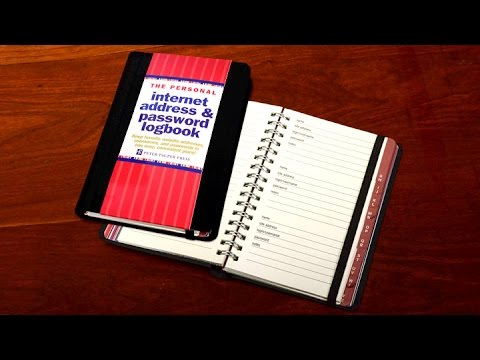 Internet Password Logbook -- Never Forget a Password Ever Again!