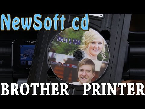 DISC Labeling using NewSoft CD and a Brother printer (MFC-J870DW)
