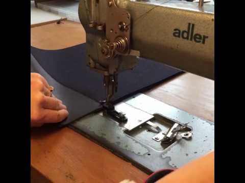 Sewing a wool felt bag, Adler Durkopp walking foot