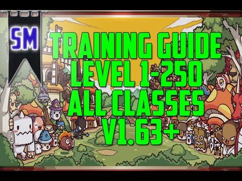 MapleStory Training Guide - ALL CLASSES - Lv 1-250!
