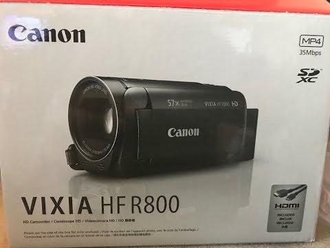 Unboxing Canon Vixia HF R800