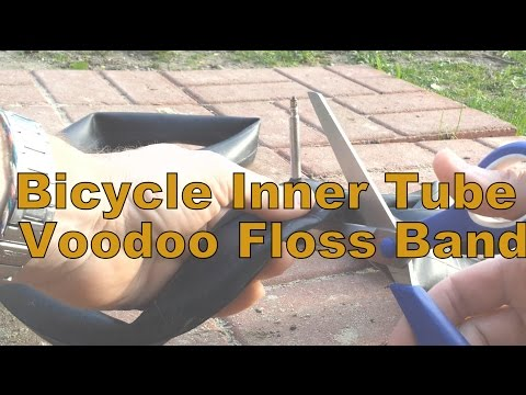 How To Cut Bicycle Inner Tube as a Voodoo Floss Band