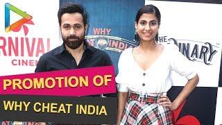 Emraan Hashmi & Shreya Dhanwanthary @Matterden Deepak talkies to Promote film