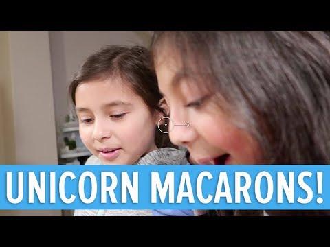 UNICORN MACARONS - GETTING READY FOR SADIE'S UNICORN PARTY