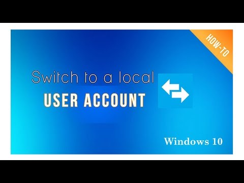 How to Switch Microsoft Account to local Account in Windows 10
