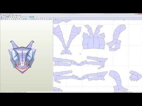 Pepakura Designer 4 Tutorial - Transforming your 3D model into a 2D pattern