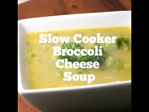 Slow Cooker Healthy Broccoli Cheese Soup