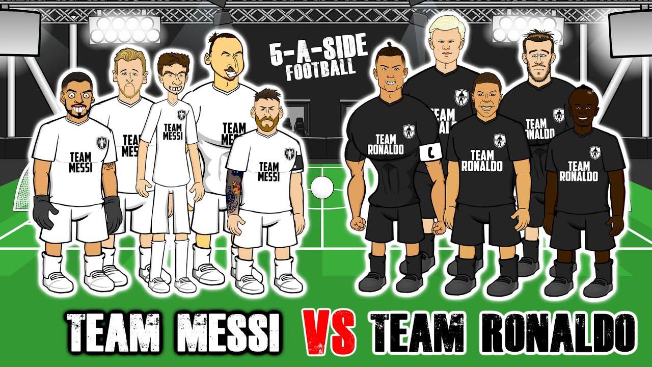 ⚽️5-A-SIDE MESSI vs RONALDO!⚽️ Feat Mbappe, Zlatan, Haaland, Mbappe & more! Frontmen Season 1.11