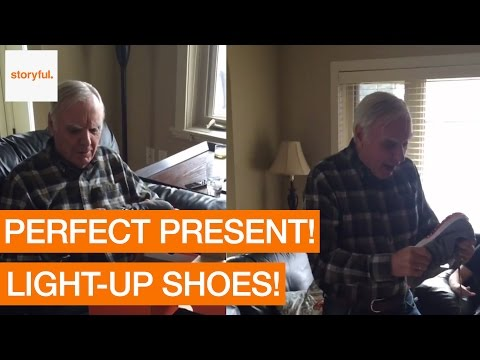This Dad is Ecstatic About his new Light-Up Sneakers (Storyful, Feel Good)