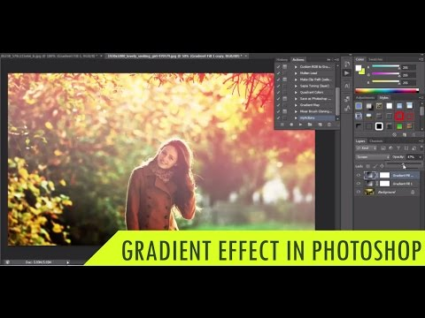 Photoshop Tutorial: Create a Gradient Effect | Photoshop Actions | Photo Effects