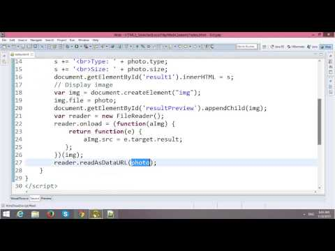 HTML5 Tutorial - Reading Local Files