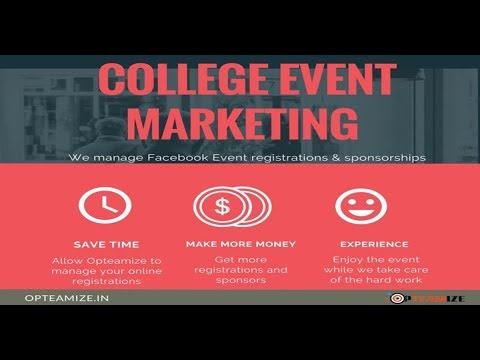 College Event Marketing from Opteamize | Increase the Registrations and Sponsorship
