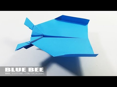 SIMPLE PAPER AIRPLANE - How to make a Paper Plane that Flies | Blue Bee