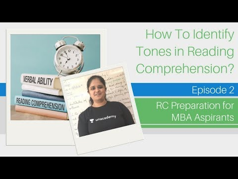 Reading Comprehension (RC) - Identifying the Tones in RC - Verbal Ability for MBA Aspirants
