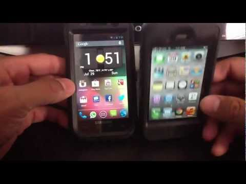 OLDER SAMSUNG ANDROID VS OLDER APPLE IPHONE  GOOGLE NOW VS  SIRI ( ROOTED AND JAILBROKEN )