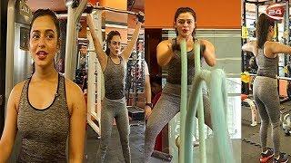 জিমে শরীর চর্চায় নুসরাত ফারিয়া   Nusraat Faria in Gym