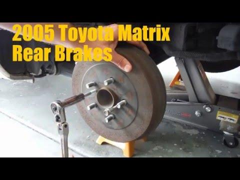 2005 Toyota Matrix Rear Brake Shoe Replacement (Drum Brakes)