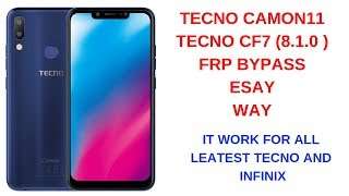 Easiest method to remove frp on Tecno Camon CX and CX AIR - PakVim