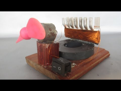 Free energy electricity using magnets motor with fan - Science fair projects easy at home