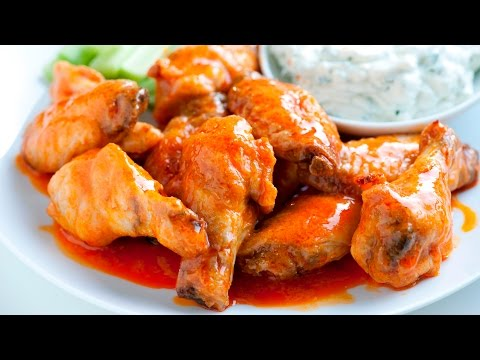 How to Make Crispy Baked Chicken Hot Wings with Blue Cheese Dressing